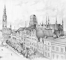 Gdansk panorama by antiquos87