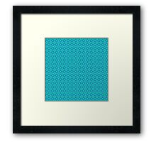 Abstract vintage geometric turquoise  pattern seamless Framed Print