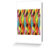 colourful abstract Greeting Card