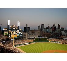 Comerica Park / The New Tiger's Stadium / Baseball in Detroit Photographic Print