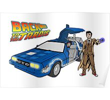 Back to the Future on Tardis with Doctor Who  Poster
