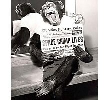 Space Chimp Photographic Print