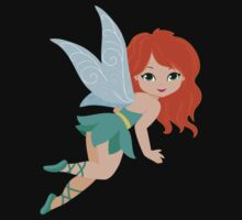 Red-haired fairy in a turquoise dress Baby Tee