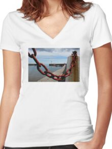 The Missing Links Women's Fitted V-Neck T-Shirt