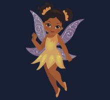 African American Beautiful  Fairy in a yellow dress Kids Clothes