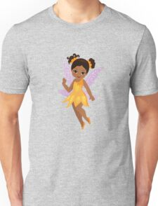 African American Beautiful  Fairy in a yellow dress Unisex T-Shirt