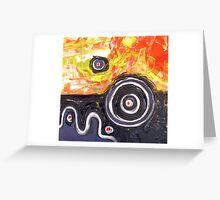 sunburnt eyes Greeting Card