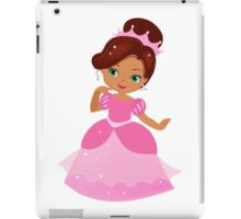 African American Beautiful Princess in a pink dress iPad Case/Skin