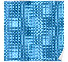 Abstract vintage geometric  blue pattern seamless. Poster