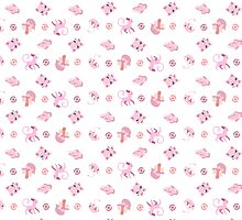 Pink Pokemon Pattern by 8BitAmy