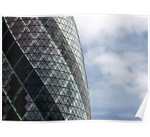 The Gherkin (30 St. Mary Axe), London, England Poster