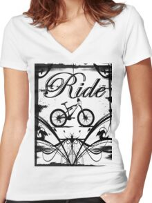 Ride2 Women's Fitted V-Neck T-Shirt