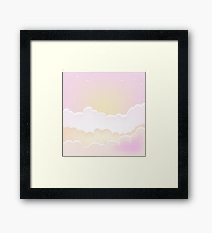 Morning clouds background. sunset sky with clouds. Framed Print