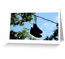 Sneakers On A Wire Greeting Card