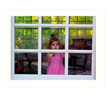Olivia Through The Window Art Print
