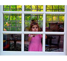 Olivia Through The Window Photographic Print