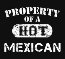 Property Of A Hot Mexican - Limited Edition Tshirt by custom333