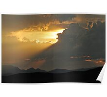 Sunset at Four Corners Poster