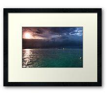 Gods canvas Framed Print