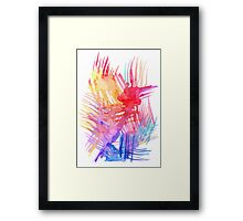 Watercolor abstract palm leaves Framed Print