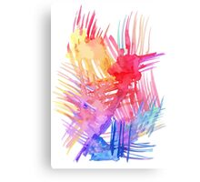 Watercolor abstract palm leaves Canvas Print