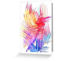 Watercolor abstract palm leaves Greeting Card