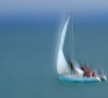 The Flying Sailing Boat by Angelika  Vogel