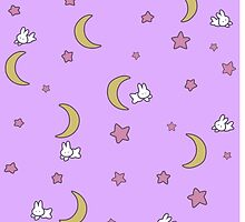 Sailor Moon inspired Bunny of the Moon Bedspread Blanket Print by AdrienneOrpheus