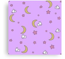 Sailor Moon inspired Bunny of the Moon Bedspread Blanket Print Canvas Print