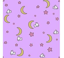 Sailor Moon inspired Bunny of the Moon Bedspread Blanket Print Photographic Print