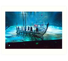 Ben Hur: Boats in the Mist. The Galley Slave-Ships. Art Print