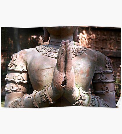 Terracotta Sculpture, Chiang Mai, Thailand Poster