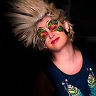 Dinosaur Butterfly Face Paint: Evolved by sunset