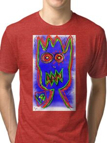 """""""Don't Whiz on the Electric Fence"""" by Richard F. Yates Tri-blend T-Shirt"""