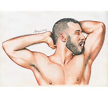 Naked Spaniard Photographic Print