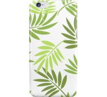 Green palm leaves pattern iPhone Case/Skin