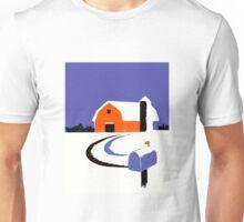 Winter Farm Scene Poster Graphic Unisex T-Shirt