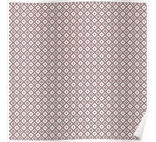 Abstract retro geometric gray - pink pattern seamless Poster