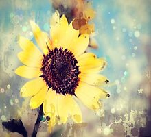 western country impressionism art watercolor sunflower by lfang77