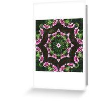 Rosas Moradas 2 Kaleidoscope 10 Greeting Card