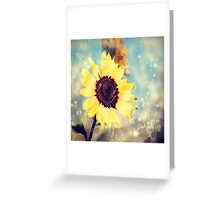 western country impressionism art watercolor sunflower Greeting Card