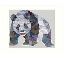 Panda Triangle Low Polygon Art Print