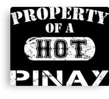 Property Of A Hot Pinay - Limited Edition Tshirt Canvas Print
