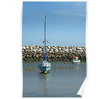 Boat in the harbour Poster