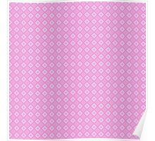 Abstract retro geometric  pink pattern seamless Poster