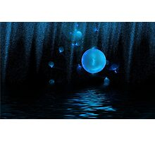 Blue water world Photographic Print