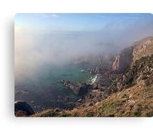 Foggy Cliffs - Alderney Canvas Print