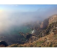 Foggy Cliffs - Alderney Photographic Print