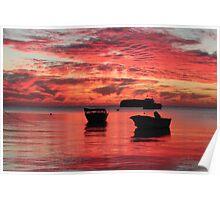 sunset in leeman western australia Poster