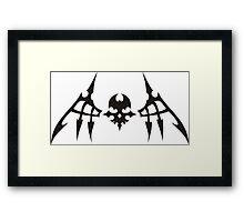 TWEWY Reaper Skull Framed Print